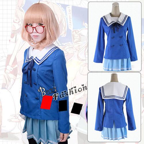 Beyond the Boundary Mirai Kuriyama Cosplay Kostüm Anime Hochschule Uniform Blau