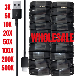 Wholesale Lot USB C Type C Cable Fast Charger For Samsung S8 S9 S10 Note 10 Bulk
