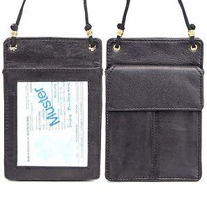 Leder-ausweishuelle-etui-tasche-schueler-presse-Firmen-sicherheitsdienst-ausweis