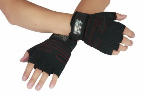 All Size Fitness Gloves No Callus Easy Lift Pull out Wtist Protection Leather