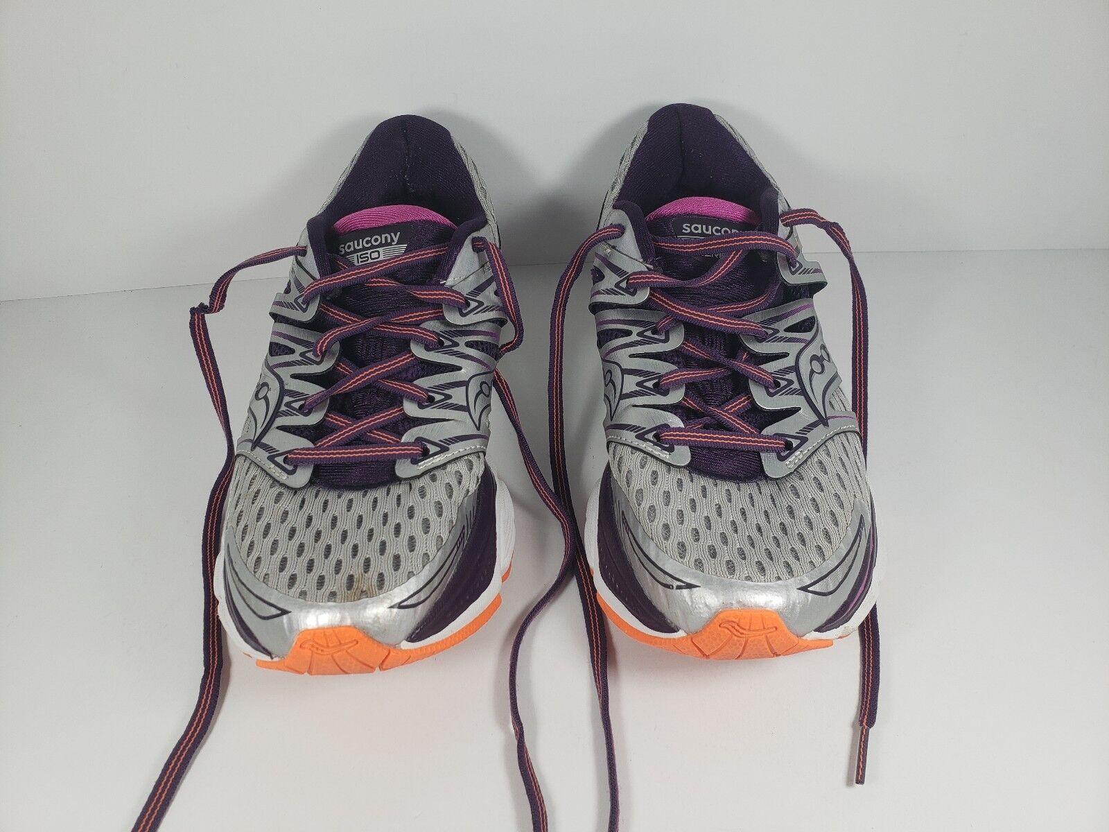 Saucony ISO Series PWR Triumph S10262-6 Women's shoes Sz 7 Purple Silver orange