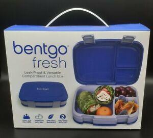 NIB-Bentgo-Fresh-Blue-Leak-proof-Versatile-4-Compartment-Lunch-Box-School-Work