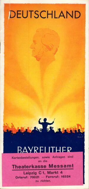Bayreuther Bühnenfestspiele 1937 Wagner Bayreuth Programmheft Unterkünfte