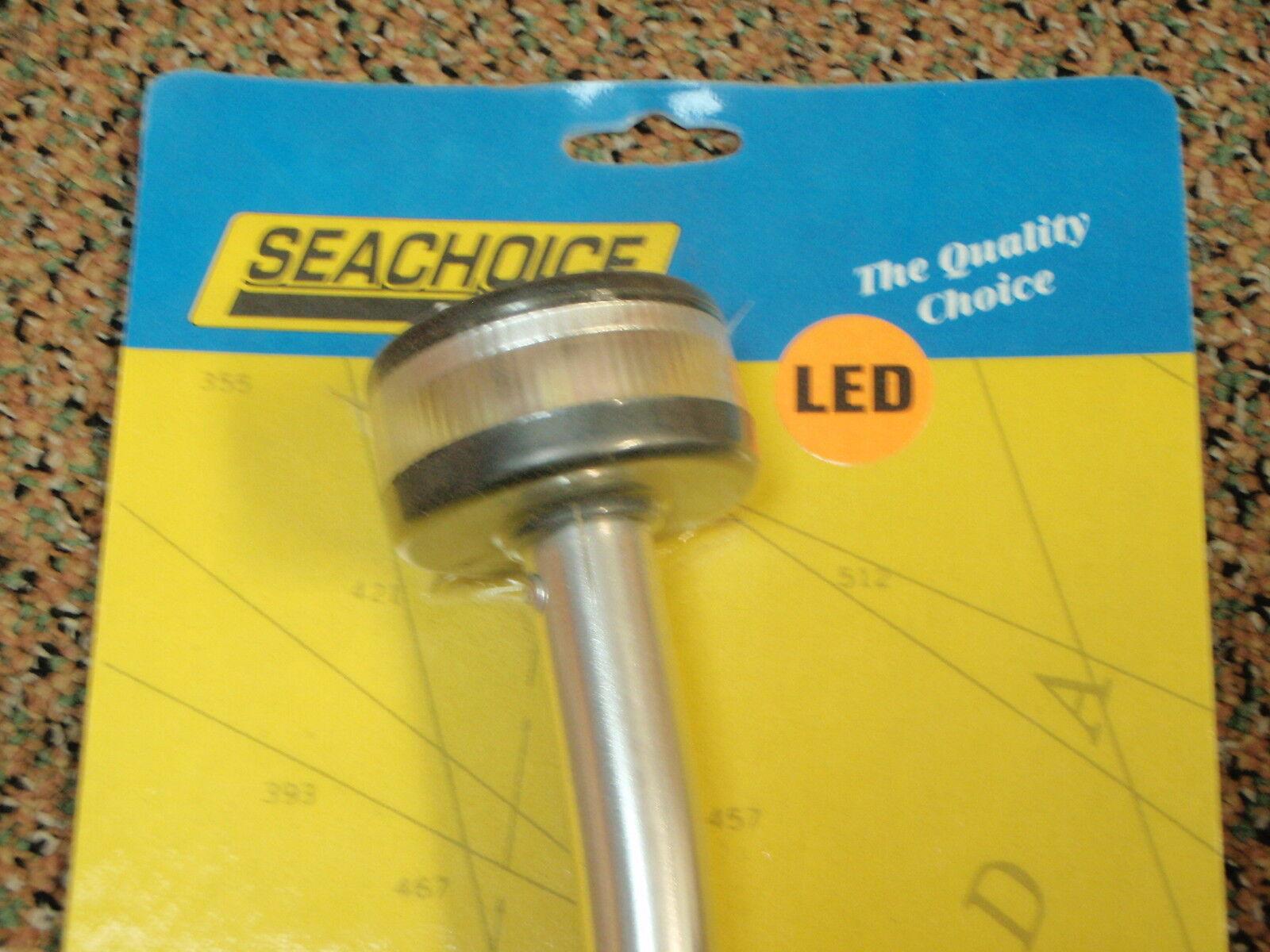 "LED POLE LIGHT ANCHOR ALL-AROUND SEACHOICE 50 02901 ALUMINUM TUBE 24/"" STERN BOAT"