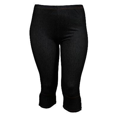 Grande taille - Legging court aspect jeans noir Danny 46 48 50 52