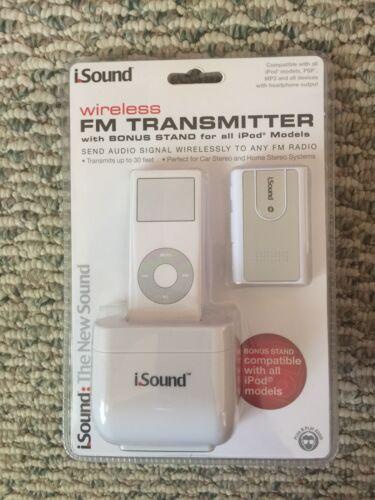 Brand New  I Sound Wireless FM Transmitter With Bonus Stand For iPod Models