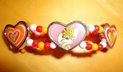 Diddl-armband Diddlina-armband Armschmuck Armkette Rot Rosa Orange Für Kinder Um Eine Reibungslose üBertragung Zu GewäHrleisten Armbänder