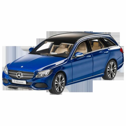 Mercedes Benz S 205 C Klasse T Modell Avantgarde Blau 1:18 Neu OVP