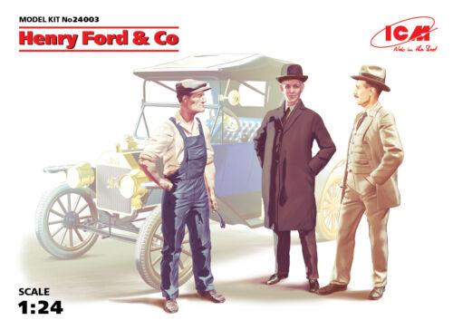 Henry Ford /& Co 100/% New Molds 3 Figures 1:24 Figure Plastic Model Kit 24003