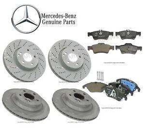 Note: w//o Sport Pkg 2011 For Mercedes-Benz C250 Front Disc Brake Rotors and Ceramic Brake Pads Stirling