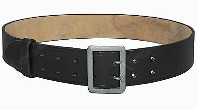 German Army Elite OFFICERS BLACK LEATHER BELT WW2 Military Repro All Sizes