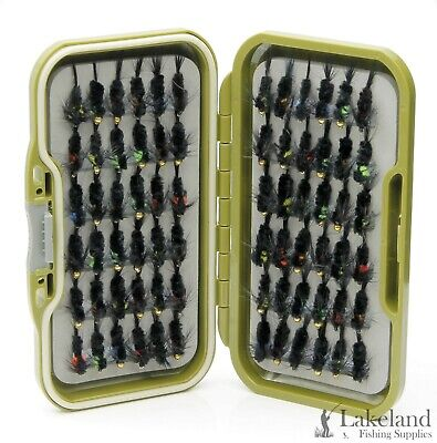 "Waterproof Fly Box Assorted Mixed /""Montana/'s Nymph Flies/"" Trout Fly Fishing"
