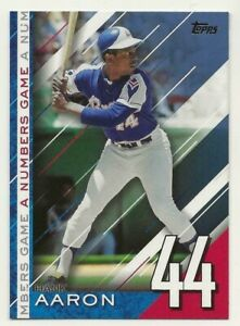 2020 Topps Update HANK AARON A Numbers Game BLUE PARALLEL Braves #NG-25