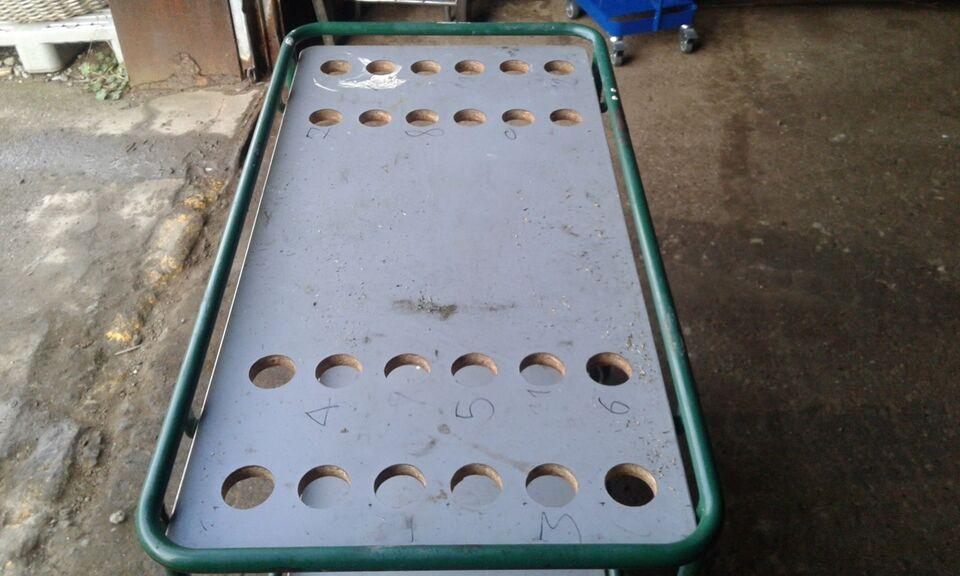 Lagervogn grøn 50 x 100 cm - solid kvalitet
