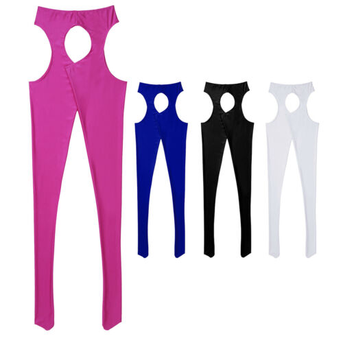 Ladies Crotchless Stocking High Waist Sparkle Suspender Tights Pantyhose Hosiery