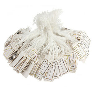100pcs-White-Price-Tags-Label-String-Tie-String-Tag-Jewelry-Watch-Display