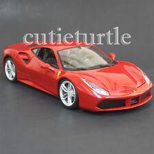 Bburago Ferrari 488 GTB 1:18 Diecast Model Car New 2016 18-16008 Red