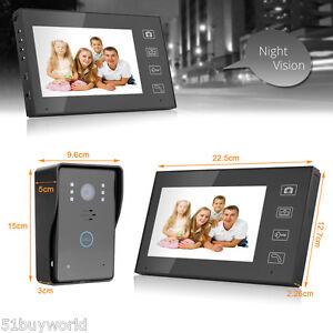 7 funk haus video t rsprechanlage kamera monitor intercom. Black Bedroom Furniture Sets. Home Design Ideas