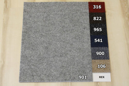 Teppich Fliesen Rex 50x50 cm B1 Balta 901 Grau B-s1