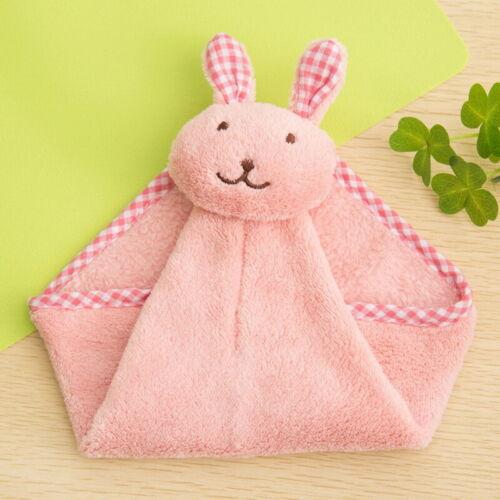 Cute Rabbit Kitchen Bathroom Hanging Towel Coral Velvet Small Hand Towels