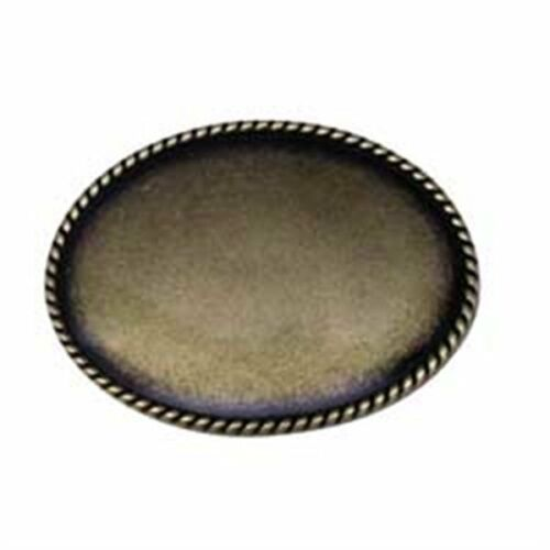Tandy Leathercraft Oval Rope Edge Belt Buckle Blank New Antique Brass  1764-01