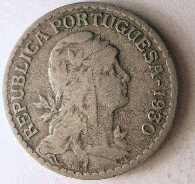 KEY COIN Portugal Bin #A FREE SHIPPING 1930 PORTUGAL ESCUDO