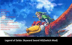 The Legend of Zelda: Skyward Sword HD(Switch Mod)-Max Heart/Ruby/Materials/Sword