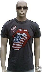 Usa Rock Rolling Linguaccia S Amplified Stones And Maglietta Star Ufficiale Stripes wXiuPZOkT