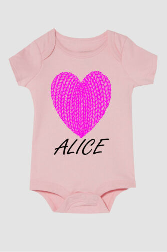 PERSONALISED BABY VEST GROW NAME FUNNY CUSTOMISED BABY SHOWER GIFT GIRLS