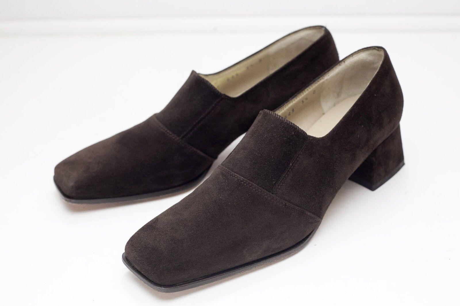 Salvatore Salvatore Salvatore Ferragamo 5.5 Gamuza Marrón Bombas Para Mujer Zapatos  para barato