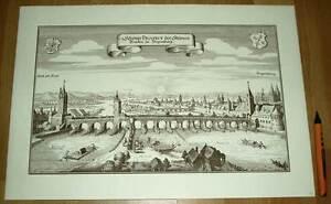 Regensburg-alte-Ansicht-Merian-Druck-Stich-1650-schw