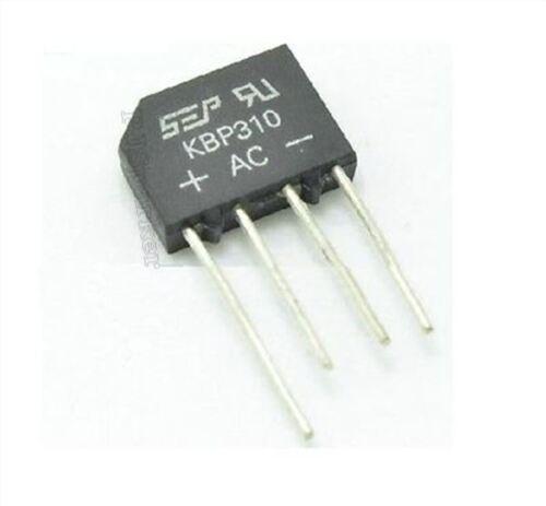 50Pcs Replace RS310 Sep KBP310 3A 1000V Bridge Rectifier New Ic qv