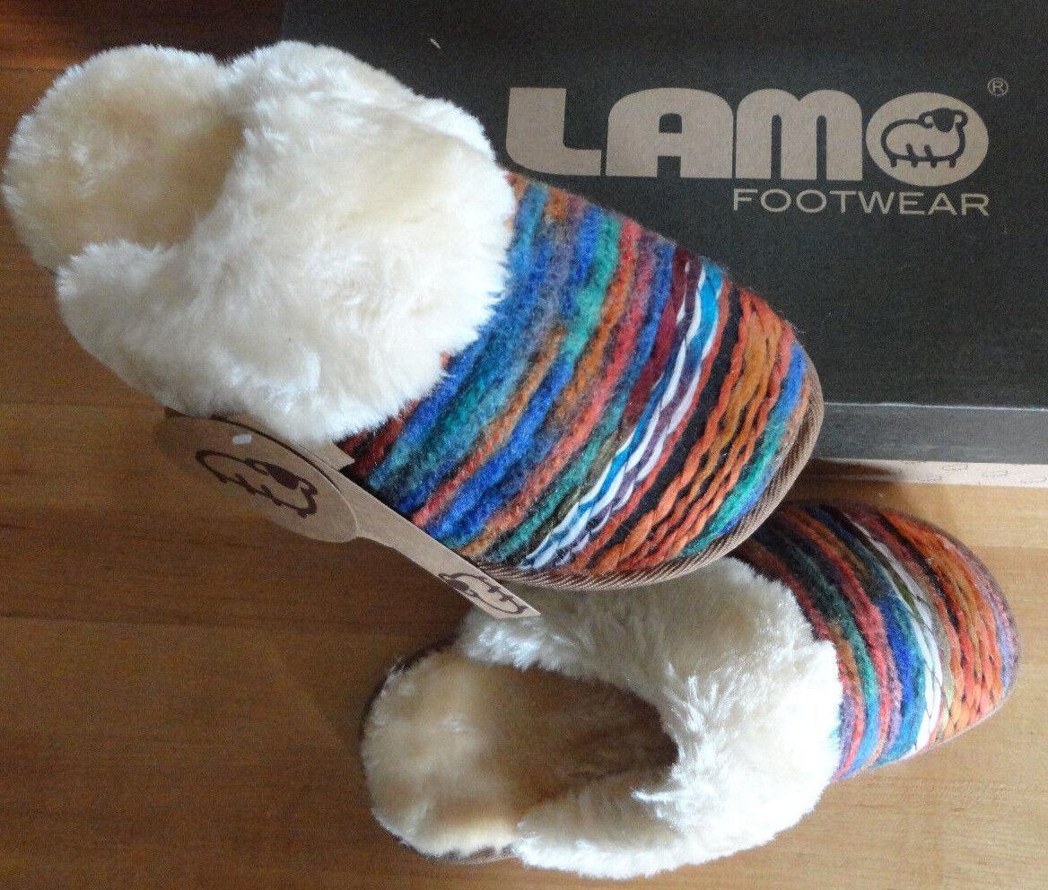 Women's LAMO Slippers Scuff Slippers Fleece Lined Southwestern 5 6 7 8 9 10