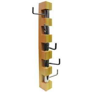 Appendiabiti Verticale.Dettagli Su Girare Verticale Rotante Muro Ganci Appendiabiti Pino Ch0812p
