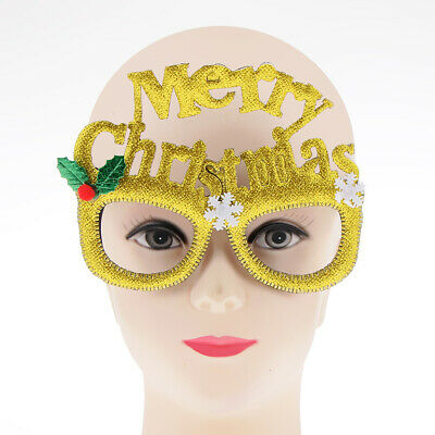 Glitter Merry Christmas Snowflake Sunglasses Party Glasses for Kids Adults