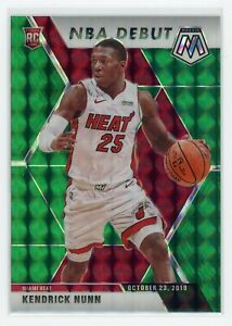 2019-20-KENDRICK-NUNN-PANINI-MOSAIC-NBA-DEBUT-GREEN-ROOKIE-RC-268