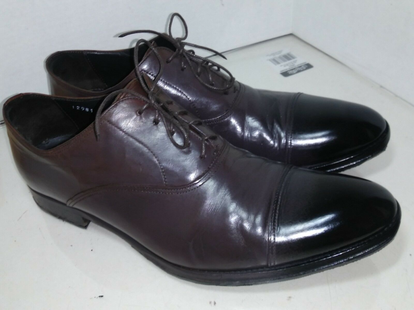 To Boot New York Brown Leather Cap Toe Oxfords Mens Size 9.5 M