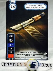 Star Wars Destiny Rivals Crafted Lightsaber #6 Full Art Promo