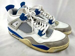 new arrival 4ae98 41872 Image is loading Nike-Air-Jordan-4-IV-Retro-Military-Blue-