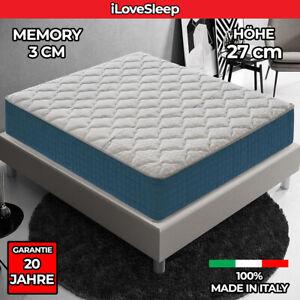Memory Foam Matratze - Höhe 27 cm - 3 cm Memory Foam - Orthopädie 9 Komfortzonen