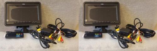 """One PAIR Veba AV7024HR 7/"""" TFT Headrest /& Mountable Reversing Camera Screen"""
