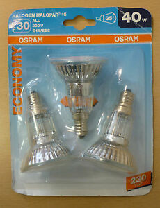 3-Pieces-OSRAM-HALOPAR-16-ALUMINIUM-economie-E14-40W-35-64822FL