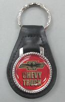 Chevrolet Chevy Truck Black Leather Silver Keyring 1948 1949 1950 1951 1952 1953