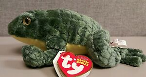 Ponder Ty Beanie Babies Frog Green Great Condition With Tags Toad