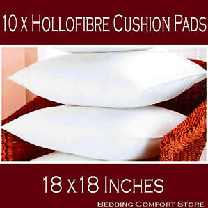 18-x18-Hollowfibre-Cushion-Inner-Pads-Inserts-Fillers-Scatters-Pack-of-10