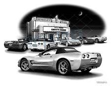 CORVETTE 2000 C5 Conv. Auto Art Car Print  #1010