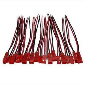 Alta-calidad-JST-Bec-conector-hembra-amp-con-cable-210mm-10-pares-2-pin-RC-Steck-m4t6