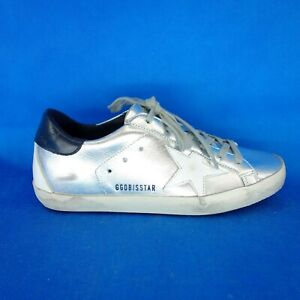 Details about Golden Goose Ggdb Superstar Ladies Low Sneakers Trainers Size 36 Silver Leather