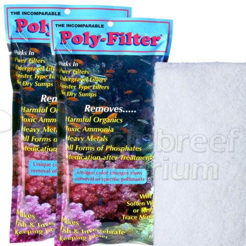 "2 Poly-Filter Phosphate//Ammonia//Organics//Metal Remover 4/"" 8/"" Pad Poly Bio Marine"
