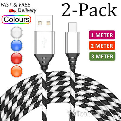 3FT//6FT Type C USB-C Cable Fast Rapid Power Cord Charger 2 Pack